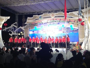 The Cardinal Singers performing in Hoi An, Vietnam.