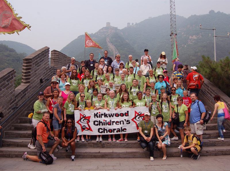 The Great Wall is a popular destination for performing groups on tour in China.