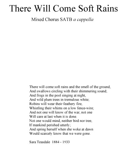 There will come soft rains sarah teasdale – Download Top Utilities ...